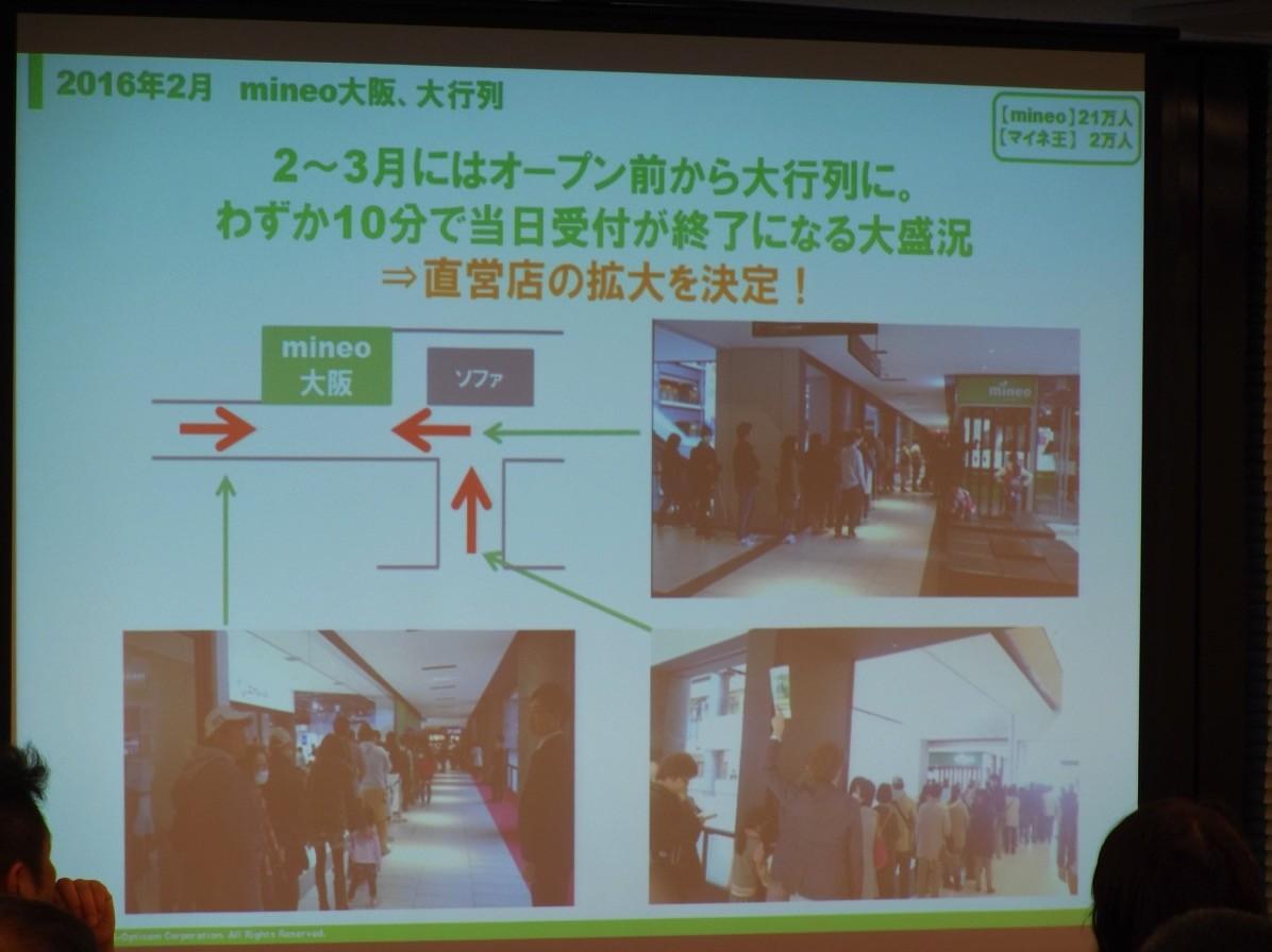 2016年2月「mineo大阪」開業