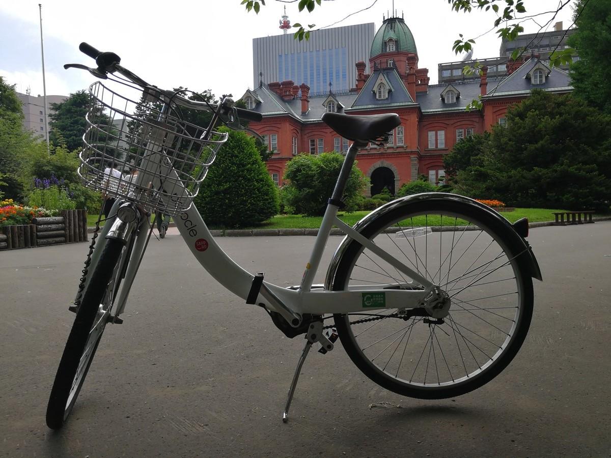 札幌市中心部で提供されているシェアバイク「ポロクル」