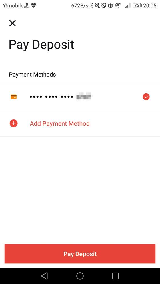 クレジットカード情報を登録する