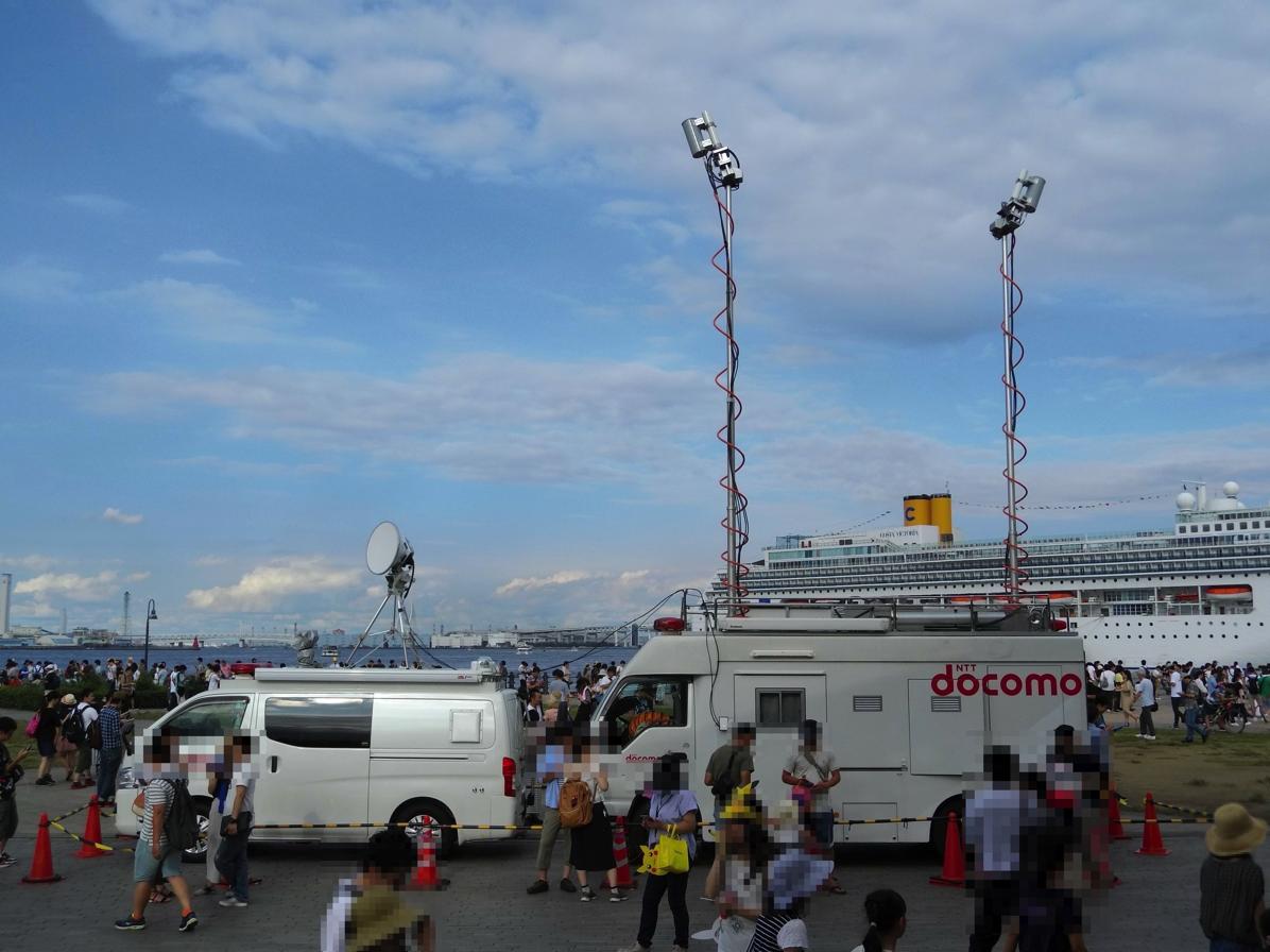 ドコモの移動基地局車(2017年8月)