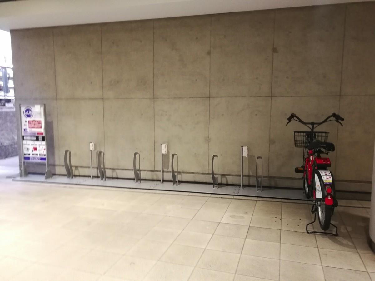 「渋谷マークシティ」のサイクルポート