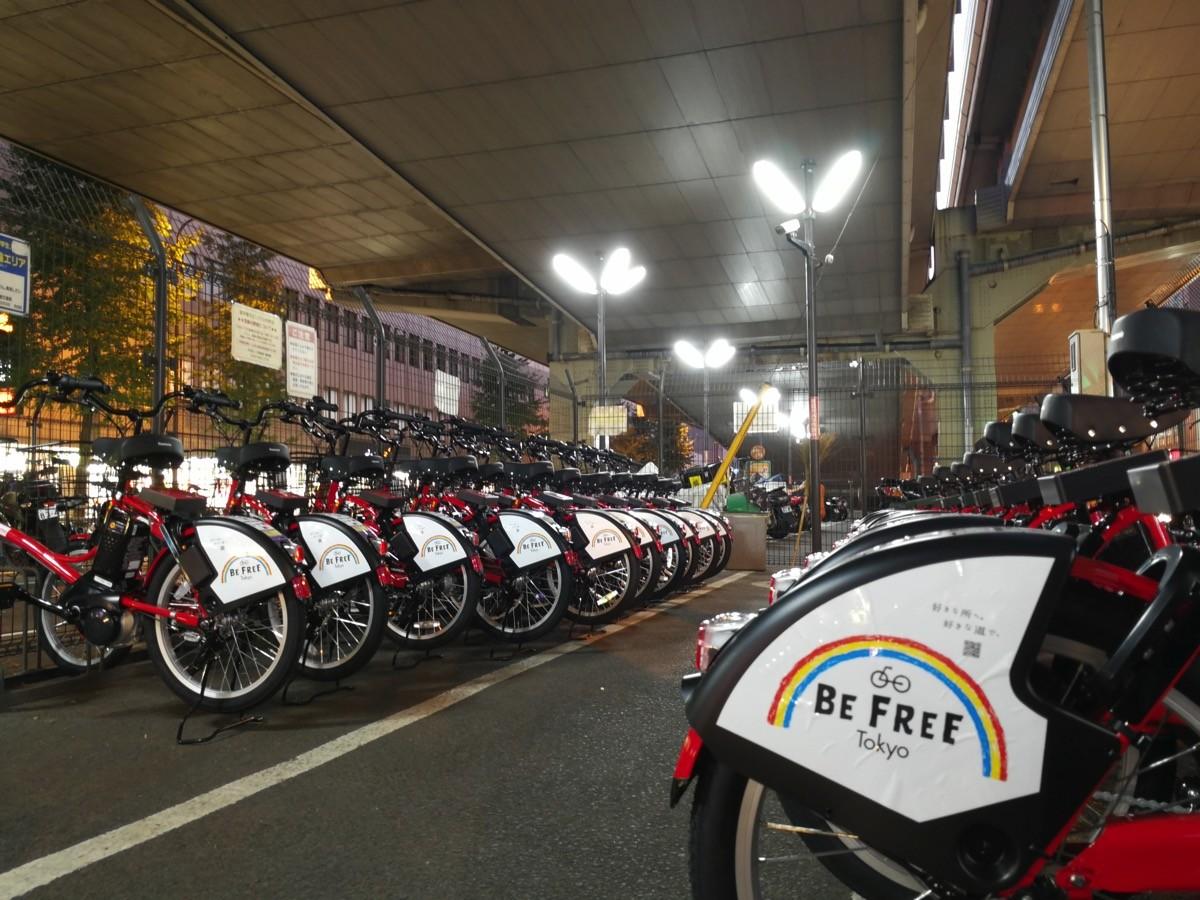 渋谷区:幡ヶ谷駅前のサイクルポート