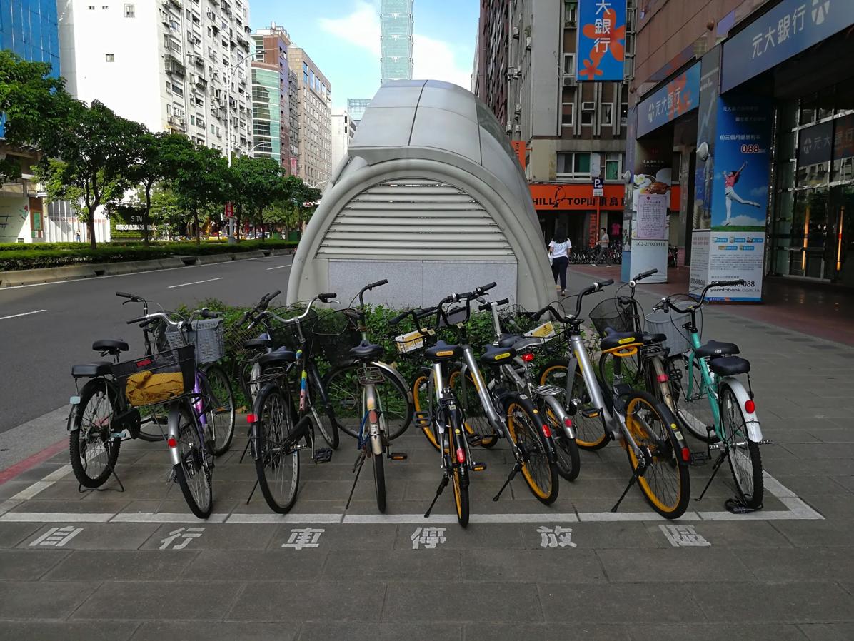 台北市内の公共駐輪場