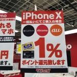 iPhone XS、iPhone XS Max、ヨドバシ・ビックカメラなど家電量販店で購入するとポイント1%還元