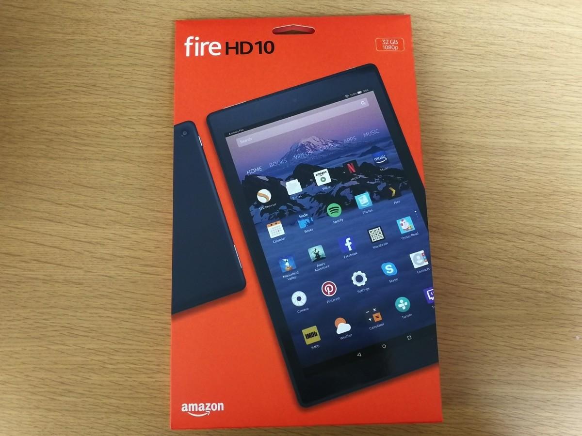 「Fire HD 10」パッケージ