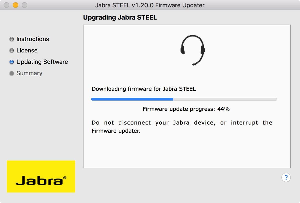 Jabra STEELのファームウェア更新