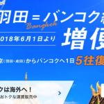 ANA、羽田深夜発のバンコク便を増便、東京・大阪・名古屋からバンコクが往復34,000円の記念セール開催