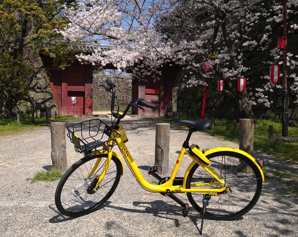 和歌山市で国内スタートした「ofo」2018年3月下旬