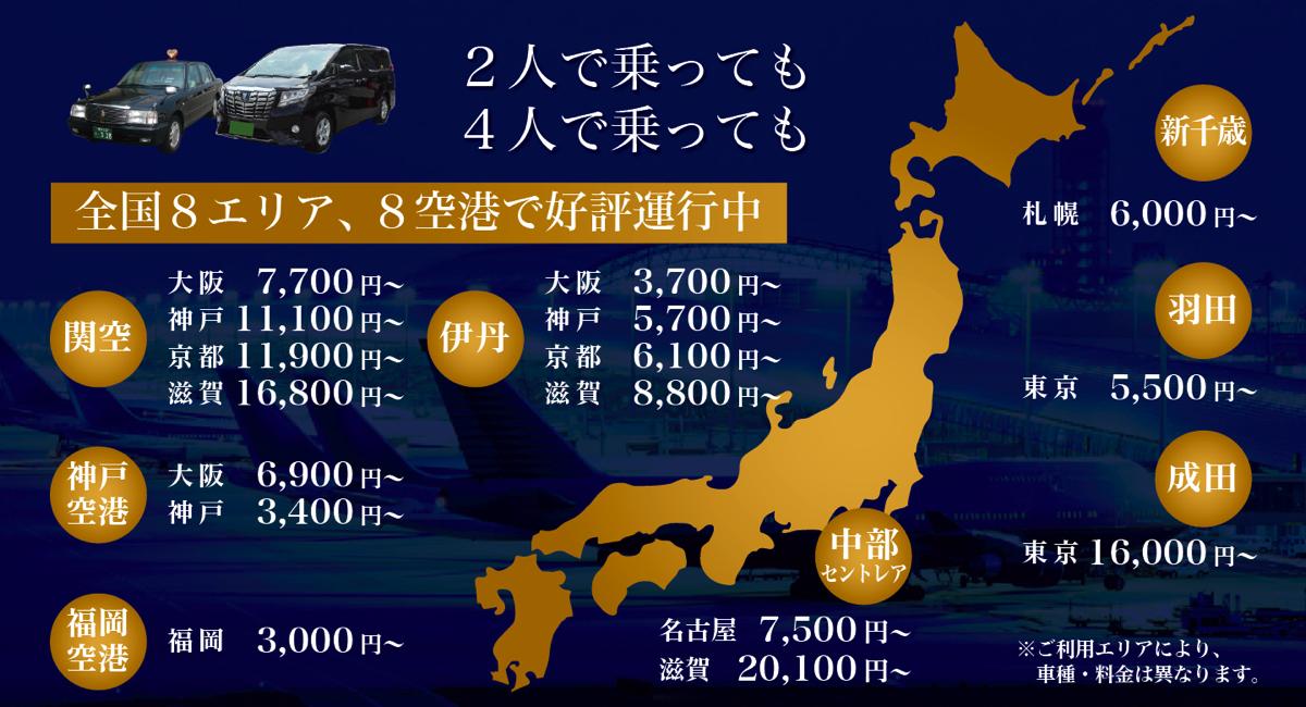 MKタクシー、羽田/成田の空港定額タクシーの予約が可能に