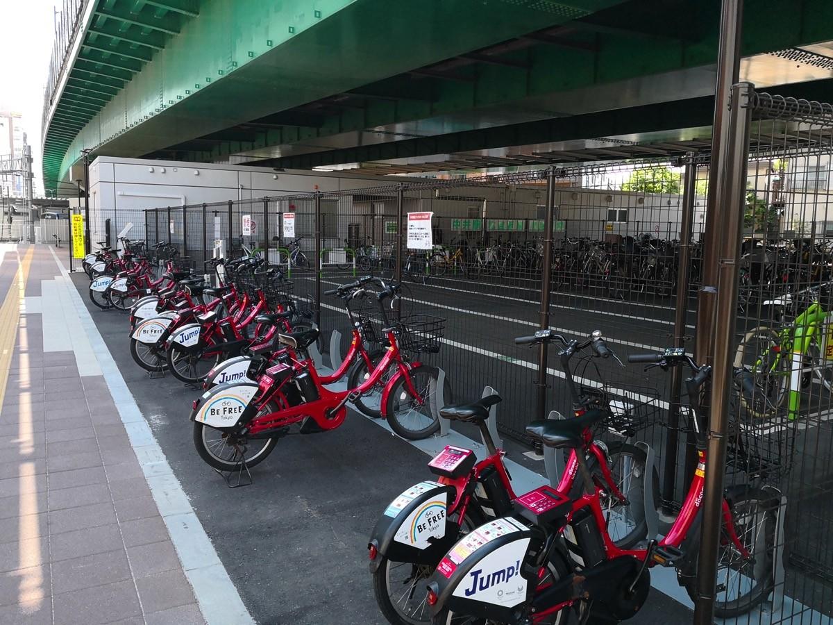 新宿区自転車シェアリング、中井駅北(D7-03)