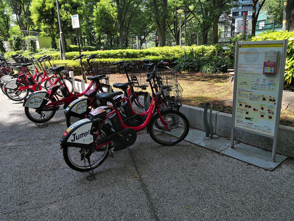 新宿中央公園のサイクルポート