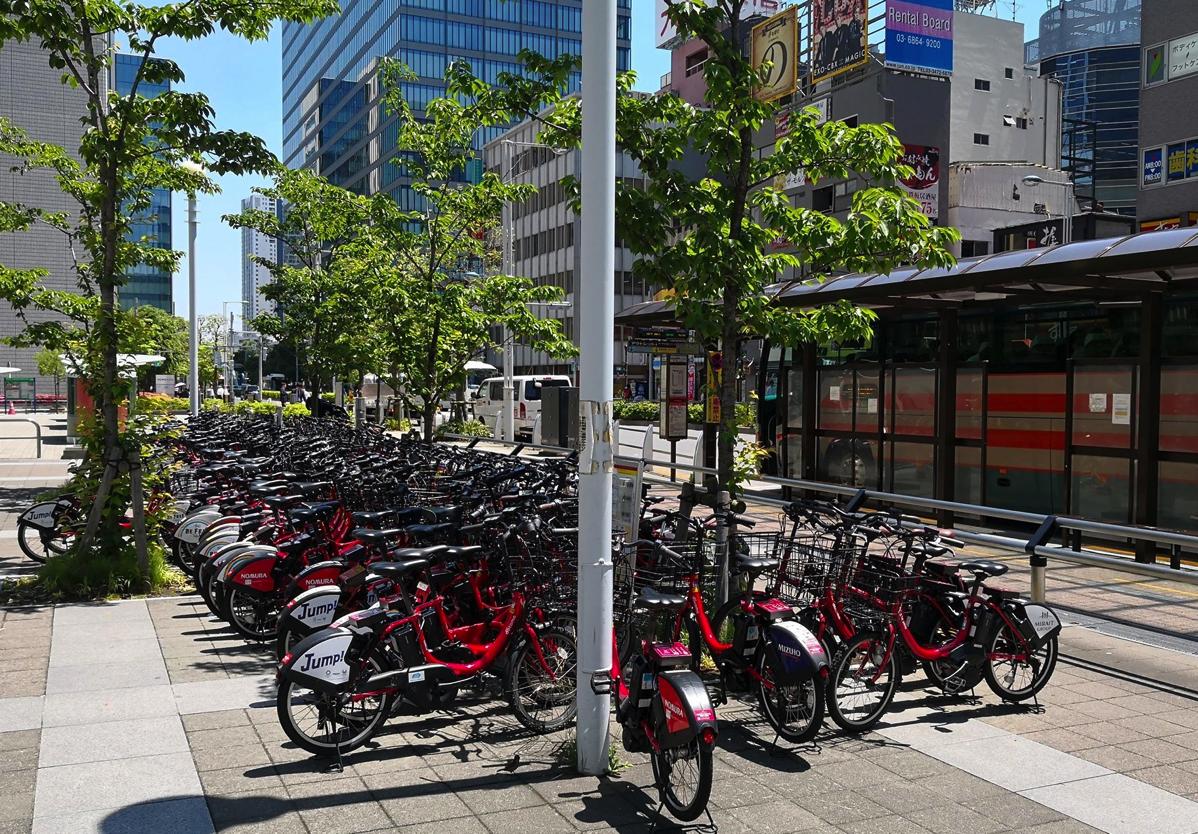ドコモ・バイクシェアの電動アシスト自転車(東京都内)