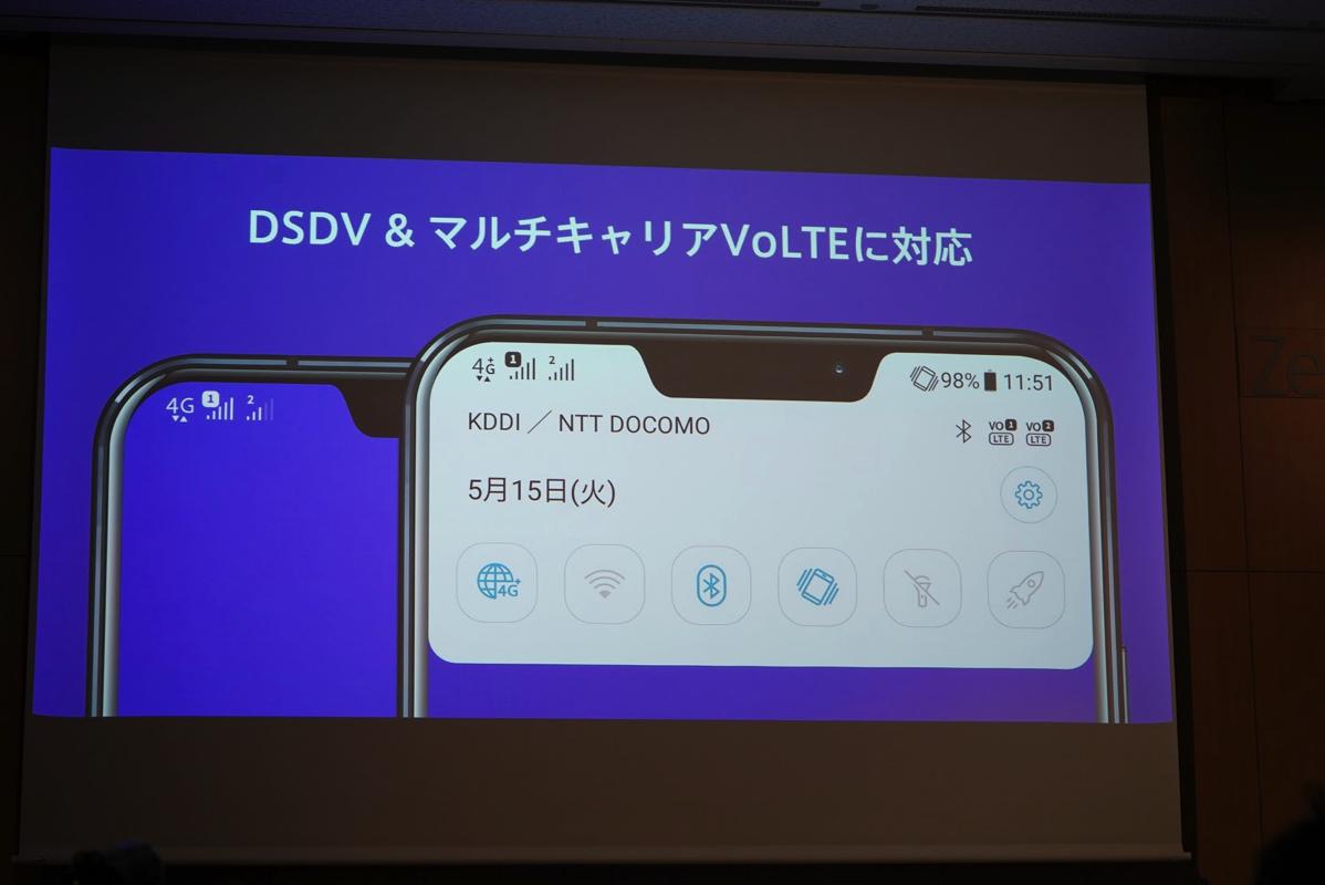 ZenFone 5:DSDV&マルチキャリアVoLTE対応