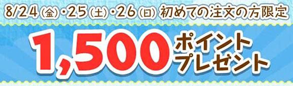 dデリバリー:3日間限定、初回注文で1,500ポイントプレゼント
