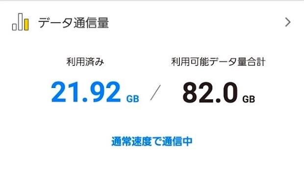 データ通信量は毎月20GB程度だった