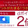 【dポイント2倍】ドコモオンラインショップでApp Store&iTunesギフトカードキャンペーン