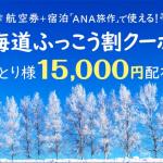 【ANA】旅作で使える「北海道ふっこう割」クーポン、2019年3月末まで