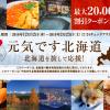 【北海道ふっこう割】るるぶトラベル、2月23日(土)宿泊までに使える最大20,000円割引クーポン