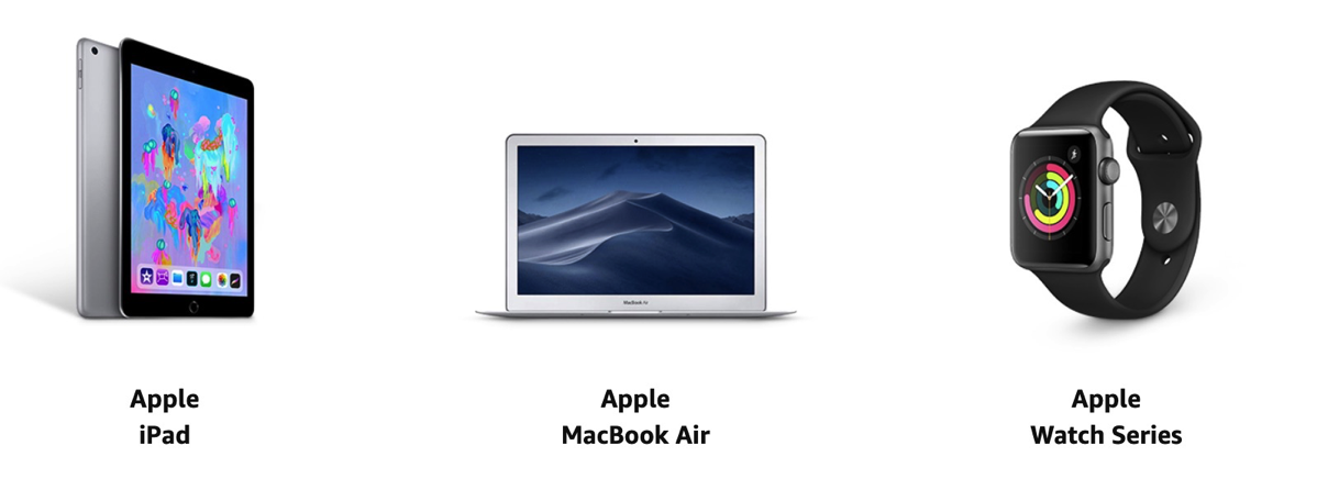 AmazonタイムセールにiPad、MacBook、Apple Watchが登場