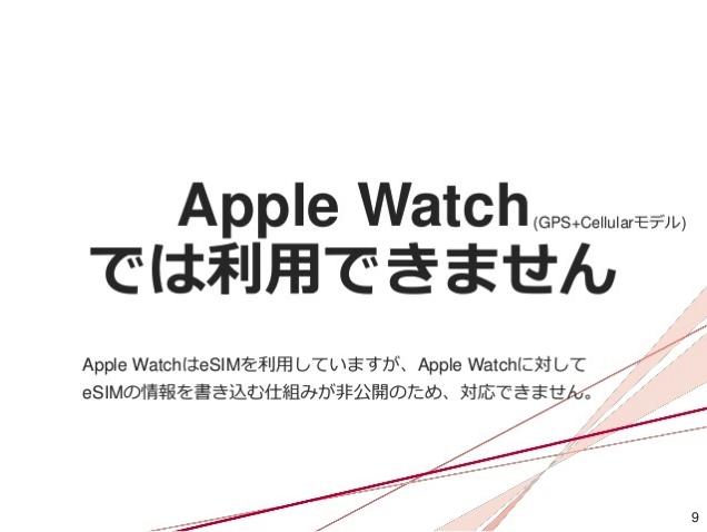 Apple Watchは利用不可