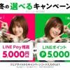【LINEモバイル】音声SIM新規契約で全員に5,000ptかLINE Pay残高を5,000円プレゼント