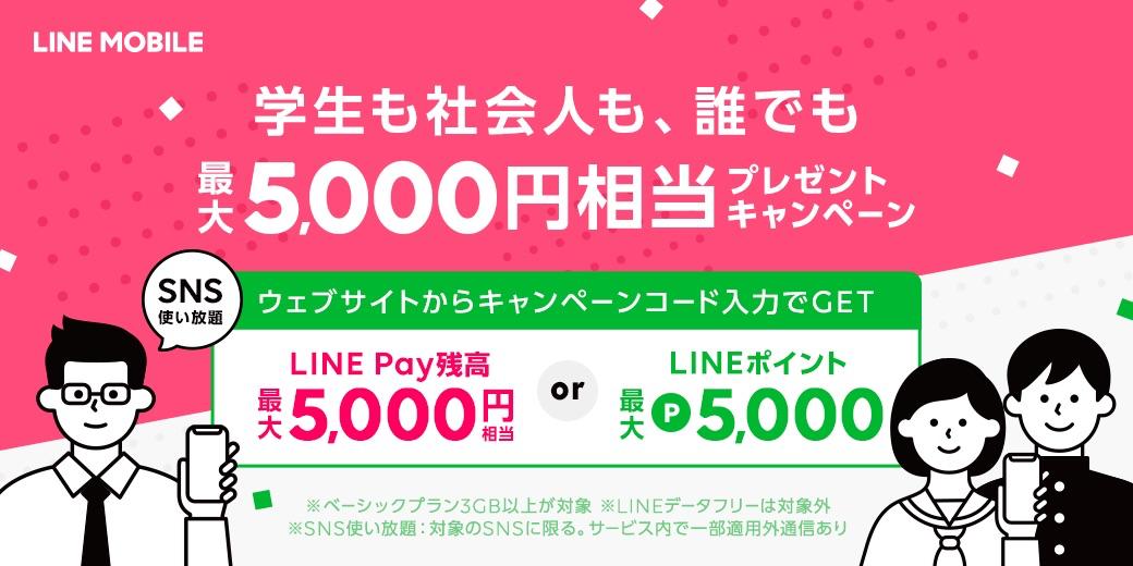 キャンペーンコード入力で5,000円相当を還元