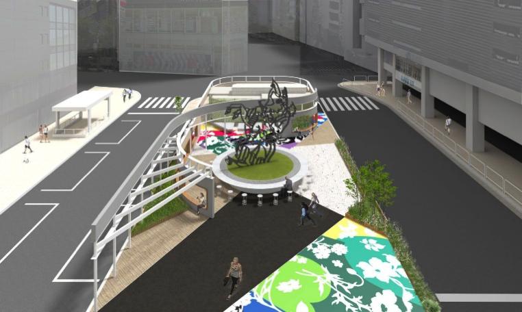 東口前の「賑わい空間」イメージ