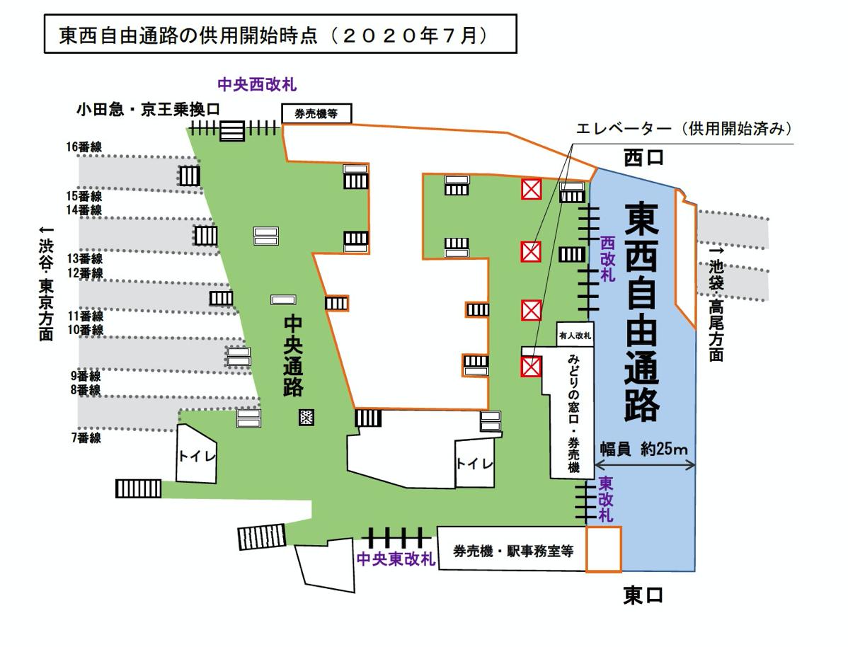 JR東日本 東西自由通路イメージ