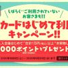 【dカード】初めて利用・しばらく利用が無い方に10,000円以上の買い物で1,000pt還元