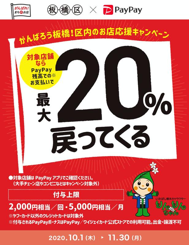がんばろう板橋!区内のお店応援キャンペーン - PayPay
