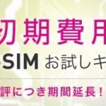 【IIJmio】eSIM初期費用3,000円→1円キャンペーン延長、11月末まで