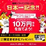 PayPay、フォロー&RTとアンケート回答で10万円相当のプレゼント