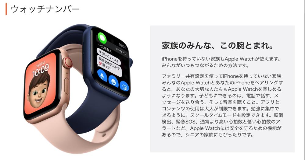 ウォッチナンバー   サービス   Apple Watch   au