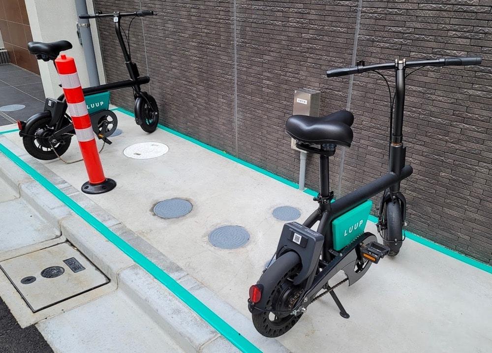 「Luup」の電動アシスト自転車