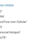 「iPhoneの通信事業者のサポートと各機能」に楽天モバイルが追加、5G/4G・eSIMなどを正式サポート