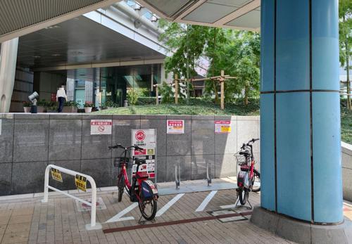 駐輪台数制限が導入された品川駅港南口ポート
